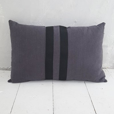 CUSHION Linen ll stripes, mud - GOODIES -
