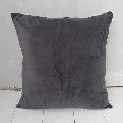 CUSHION velvet, grey - GOODIES -