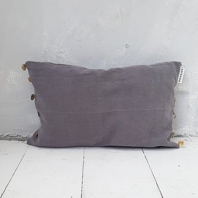 CUSHION sequins , grey - GOODIES -