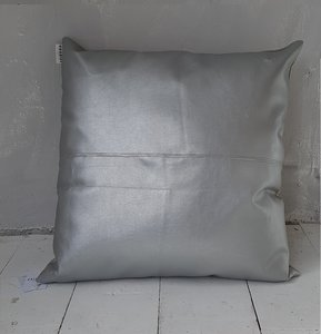 CUSHION, silver leather  - GOODIES -