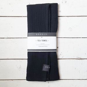 TEA TOWEL black - GOODIES -